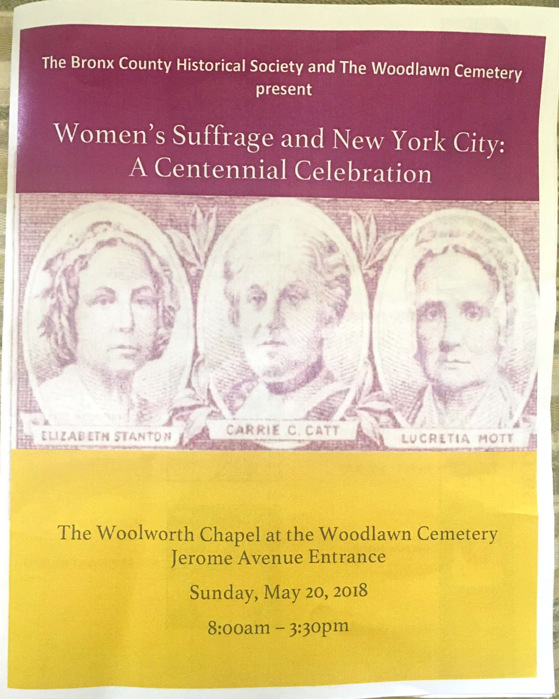 Women's Suffrage and New York City: A Centennial Celebration